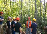University of Maine forestry student tour in Glenburn, Maine